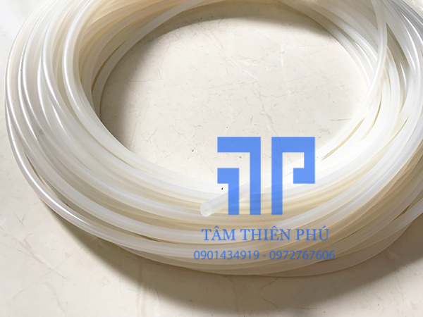 Ống silicone chịu nhiệt trắng trong
